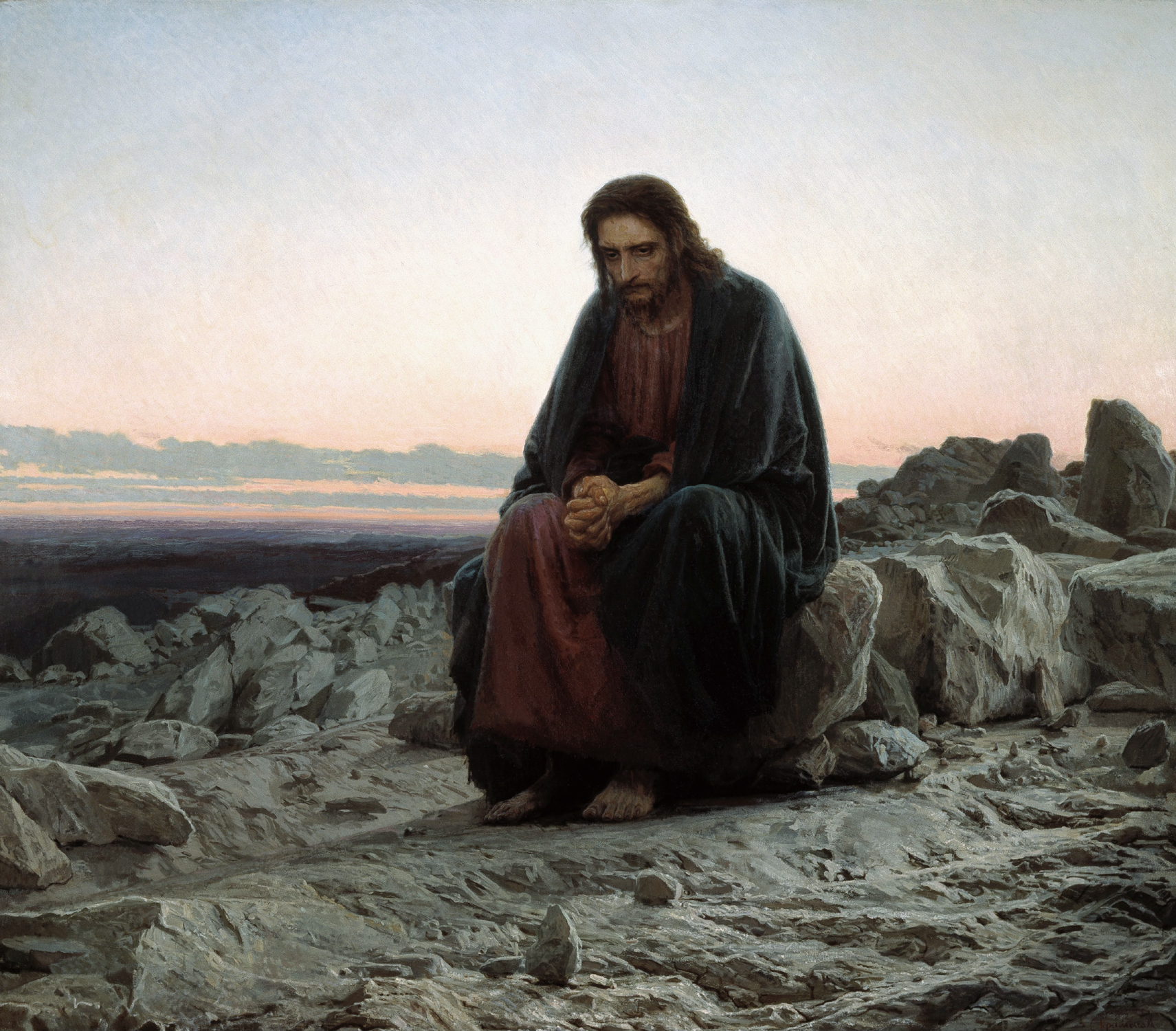 Jesus a visionary Leader-In-The-Wilderness-Ivan-Kramskoy
