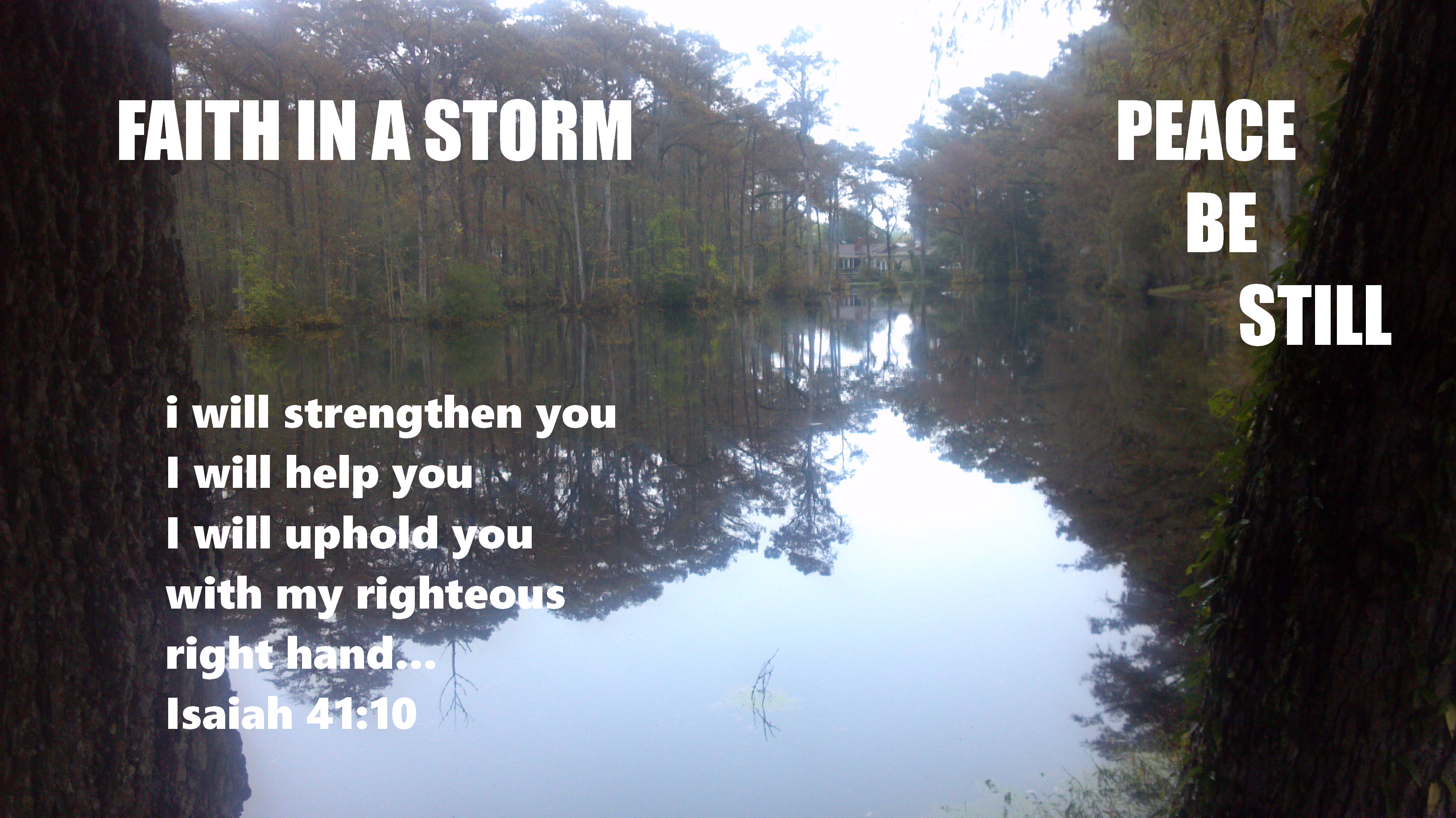 Faith in a Storm (Photo by Pastor Davis)