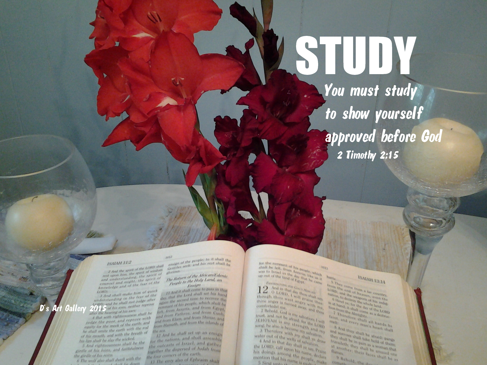 CALLED BY THE WORD TO STUDY (Photo by Pastor Davis)