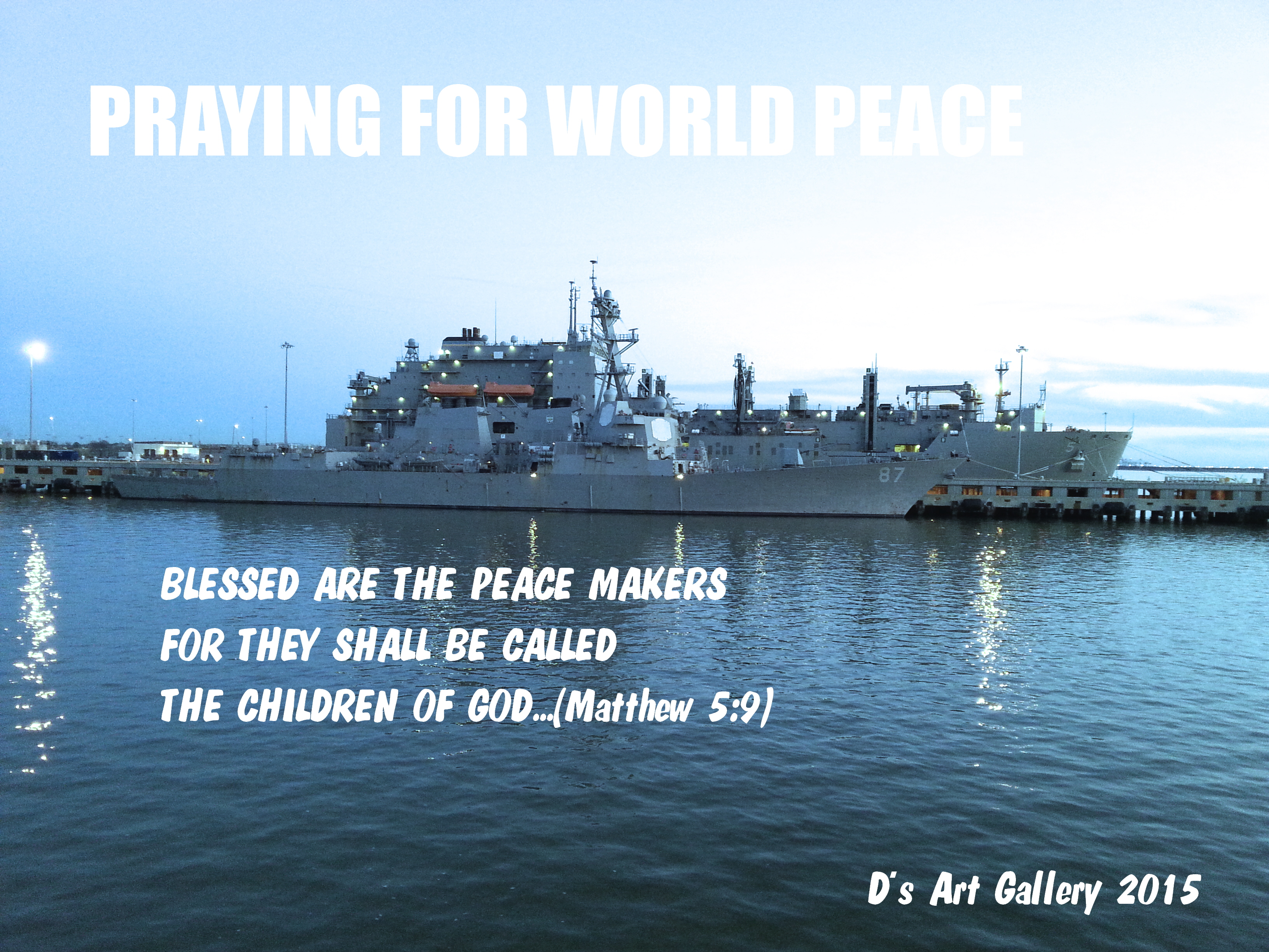 Ship of war helping to maintain peace in the world (Photo by Pastor Davis)