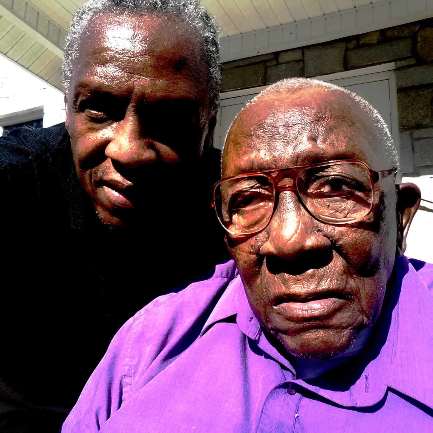 FATHER AND SON (Pastor Davis and his 97 year old father Deacon Davis Byars
