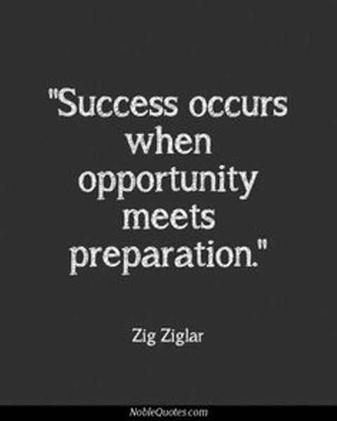 SUCCESS AND PREPARATION