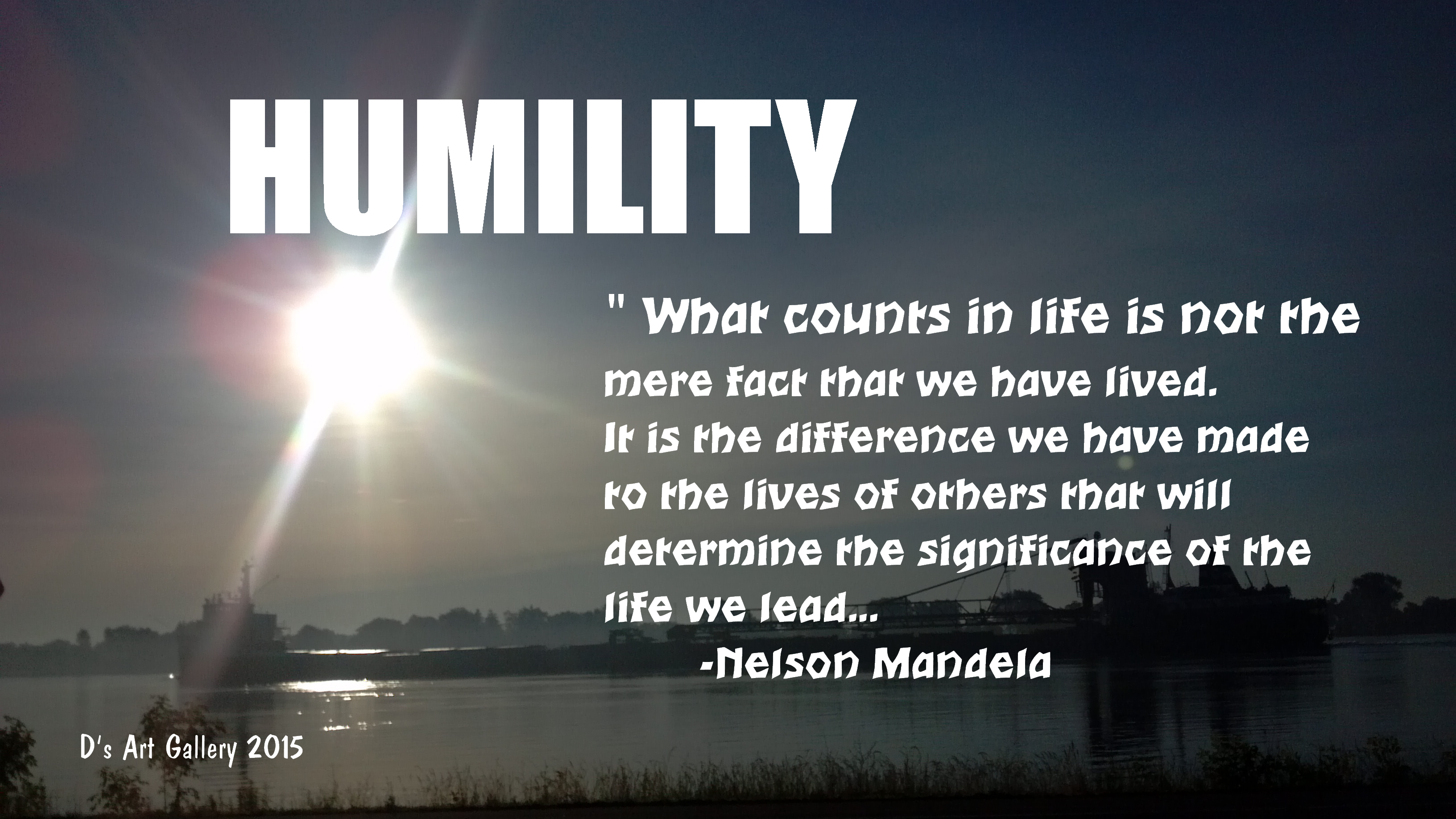 HUMILITY (by Pastor Davis)